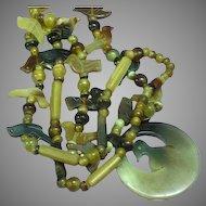 Exquisite! Enchanting Carved Horn Birds Fetish Necklace