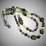 Naga Necklace Northeast India, Nagaland, Naga People Striking Tiger Eye Beads Necklace