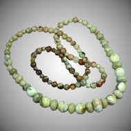 Picture Agate Jaspers Beaded Gemstones Necklace