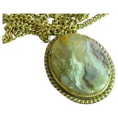 Beautiful Mesmerizing Large Picture Agate Pendant Necklace