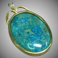 Eilat Chrysocolla  Large Necklace Pendant