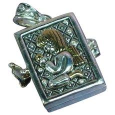 Vintage Locket Boy Girl Prayer Box Treasure Box  Necklace Pendant