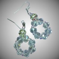 Swarovski A/B Crystal Dangle Pierced Earrings