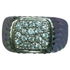 Vintage Men's Sterling CZ Stones  Ring