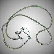 Sterling Silver Square Wheat Chain Necklace