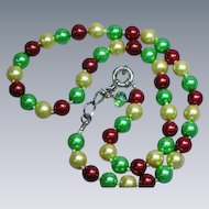 Amazing Multi-Color Dyed Pearl Necklace