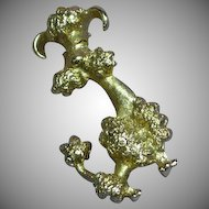 Avon Perky Poodle Gold Tone Pin Brooch