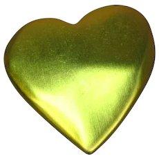Victorias Secret Large Brushed Goldtone Heart Pin Brooch