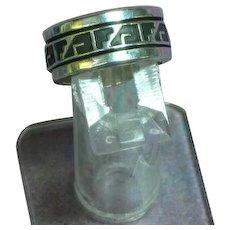 Vintage Native American Hopi Sterling Silver Tribal Design Spinner Fidget Ring