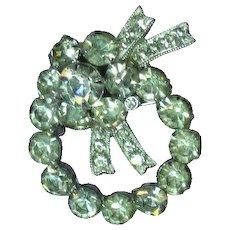 Eisenberg Ice Signed Bright Beautiful Wreath Brooch Pin