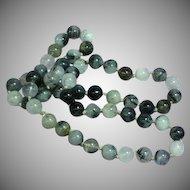 Black Rutilated Quartz Beads Necklace