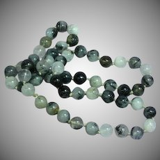 Black Rutilated Quartz Beads Necklace
