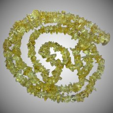 Citrine Quartz Nuggets Endless Necklace