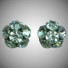 Rhinestone  Big Stones Pierced Earrings