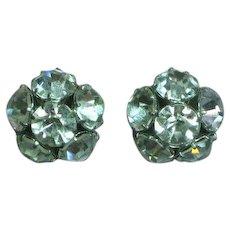 Rhinestone  Big Stones Pierced Earrings
