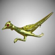 Road Runner Figural Bird Brooch Pin