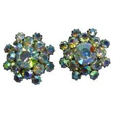 A/B Rhinestone Elegant Vintage Clip Earrings
