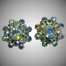 A/B Rhinestone Elegant Vintage Clip Earrings