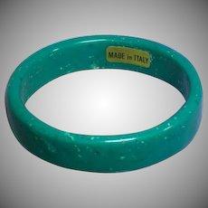 Italian Stone Look Lucite Turquoise Bangle Bracelet