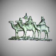 J.J. Jonette Jewelry Vintage Three Kings North Star Pin Brooch