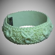 Wonderful Floral Wedding Cake Bracelet Feather Weight Clamper Bracelet