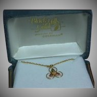 Black Hills Gold 10k Vintage Precious MIB Pendant Necklace