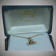 Black Hills Gold 10k Vintage Precious MIB Pendant Necklace