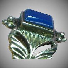 Sterling Silver  Blue Chrysophase Gemstone Ring