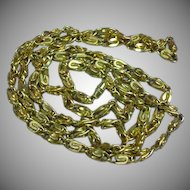 Heavy Square Link Chunky Gold Tone Chain Necklace