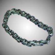 Stainless Steel Mens Massive Heavy Square Link Bracelet