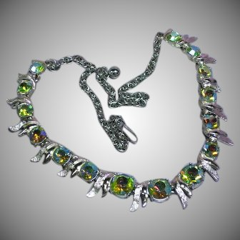 Lovely Vintage A/B Rhinestone Silver tone Necklace