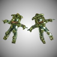 Mixed Metals Elaborate Scarecrow Pierced Earrings