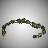 Vintage Japanese Amita Shakudo Damascene Butterflies Bracelet