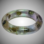 Vintage Clear Lucite Bug Beetles Insect Scorpion Large Bracelet