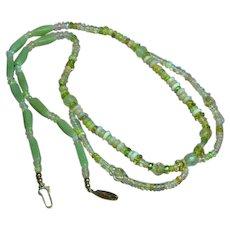 Ethiopian Yellow Welo Fire Opal Jade OOAK Custom Necklace