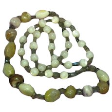 Gemstones Labradorite Mother of Pearl Agate One of a Kind Necklace