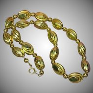 Gold Plated Designer Beautiful Bead Necklace