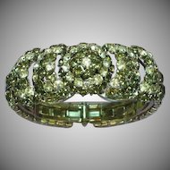 Warner Designer Jewel Encrusted Black Diamond & Clear Rhinestones Clamper Bracelet