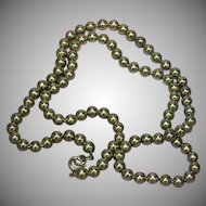 Stainless Steel Ball Bead Chain Necklace
