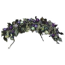 Gothic Gargantuan Chaos Goth Bohemian Day Of The Dead Wiccan Halloween Original Charm Bracelet