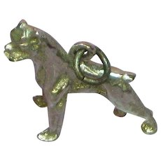 Bulldog Boxer Sterling Silver 3-D Charm or Necklace Pendant