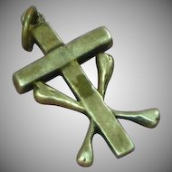 Late Medieval Style Devotional Cross w/ Cross Bones Sterling Silver Charm or Necklace Pendant