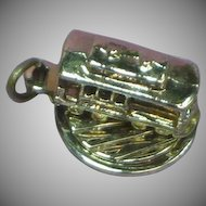 Cable Car San Francisco Marked Moving Sterling Silver Charm circa 1960's