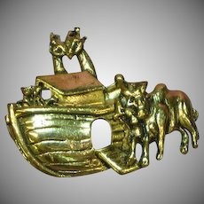Noah's Ark Figural Animals Brooch Pin