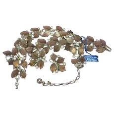 Robbins Signed Designer NOS Heavenly Lavender Art Glass Necklace Bracelet  Earrings Set Demi Parure