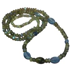 FREE SHIP ALL ITEMS Gorgeous Gemstone Labradorite Blue Kyanite Gemstones Necklace
