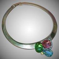 FREE SHIP ALL ITEMS Juliana D&E Rhinestone Cobra Collar Choker Vintage Book Piece Necklace