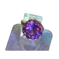 10K Rose Gold Filled Corundum Synthetic Alexandrite Ring