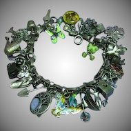Gertrude's Garden Gardening Themed Loaded Sterling Silver Charm Bracelet