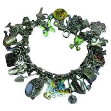 Gertrude's Garden Gardening Themed Loaded Sterling Silver Charm Bracelet